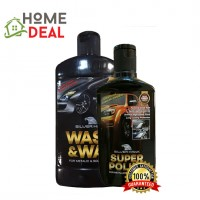 SILVERHAWK WASH & WAX 450G + SUPER POLISH 200G (SILVERHAWK洗车液体450G & 车擦亮剂200G)